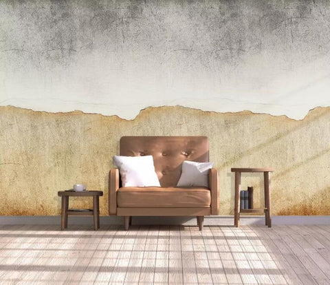 3D Old industrial style, Mottled, Concrete wall Wallpaper