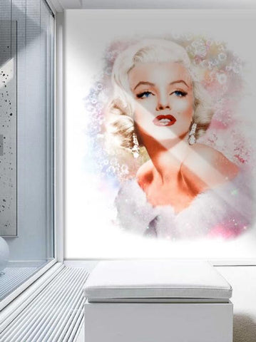 3D Hand-painted Marilyn Monroe Wallpaper