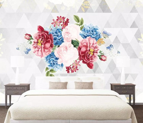 3D Geometric, Vintage, rose Wallpaper