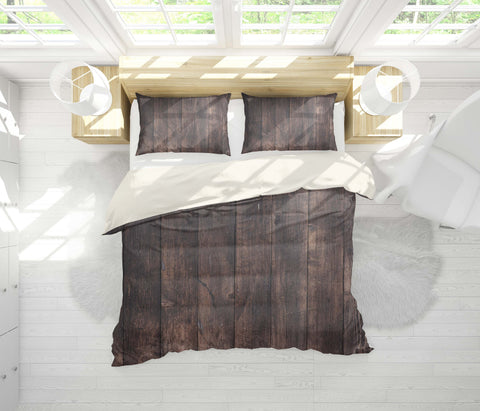 3D Dry, Dark wood grain Bedding Set Quilt Cover Quilt Duvet Cover ,Pillowcases Personalized  Bedding,Queen, King ,Full, Double 3 Pcs