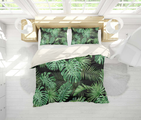 3D Tropical plant, Banana leaf Bedding Set Quilt Cover Quilt Duvet Cover ,Pillowcases Personalized  Bedding,Queen, King ,Full, Double 3 Pcs