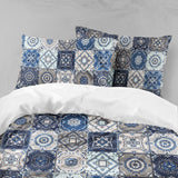 3D Blue-tones, National pattern Bedding Set Quilt Cover Quilt Duvet Cover ,Pillowcases Personalized  Bedding,Queen, King ,Full, Double 3 Pcs