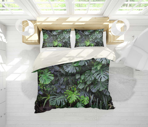 3D Tropical plant Bedding Set Quilt Cover Quilt Duvet Cover ,Pillowcases Personalized  Bedding,Queen, King ,Full, Double 3 Pcs