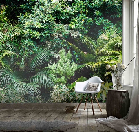 3D Fresh, Dense, Green plant Wallpaper