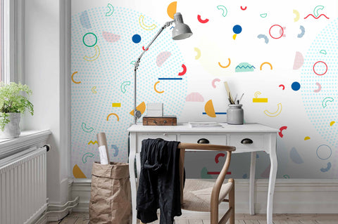 3D Abstract, Colorful, Cute, Geometric Wallpaper