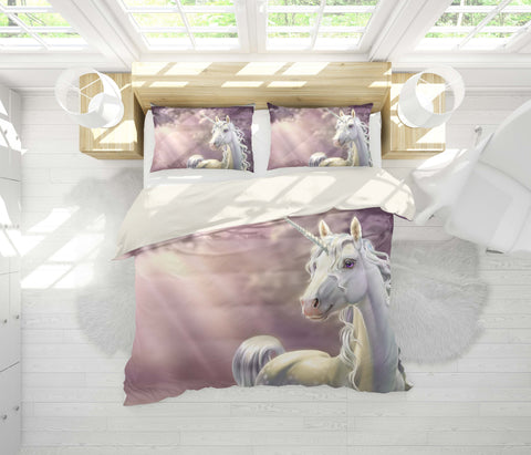 3D Mysterious, Unicorn Bedding Set Quilt Cover Quilt Duvet Cover ,Pillowcases Personalized  Bedding,Queen, King ,Full, Double 3 Pcs