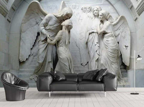 3D Classical, Sacred, Religious sculpture Wallpaper