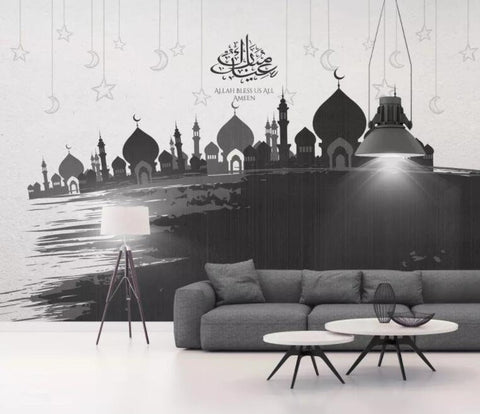 3D Hand-painted, Arab, Muslim architecture Wallpaper