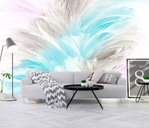 3D Abstract, Watercolor, Soft, Feather Wallpaper