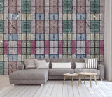 3D Vintage, Colorful brick Wallpaper
