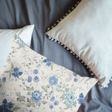3D Blue-tones, Floral Set Quilt Cover Quilt Duvet Cover ,Pillowcases Personalized  Bedding,Queen, King ,Full, Double 3 Pcs
