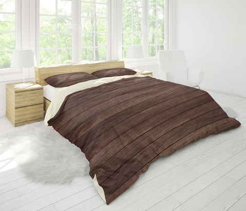 3D Dark, Wood grain Bedding Set Quilt Cover Quilt Duvet Cover ,Pillowcases Personalized  Bedding,Queen, King ,Full, Double 3 Pcs