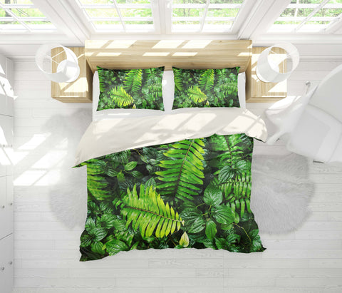 3D Fresh, Plant leaf Bedding Set Quilt Cover Quilt Duvet Cover ,Pillowcases Personalized  Bedding,Queen, King ,Full, Double 3 Pcs