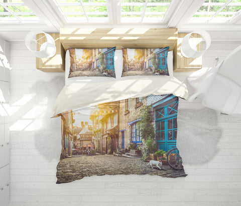 3D Sunset, Street view Bedding Set Quilt Cover Quilt Duvet Cover ,Pillowcases Personalized  Bedding,Queen, King ,Full, Double 3 Pcs