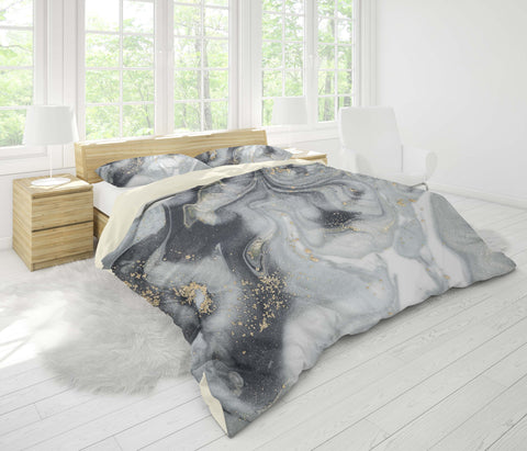 3D Cold-tones  marbled  Quilt Cover Set Bedding Set Pillowcases