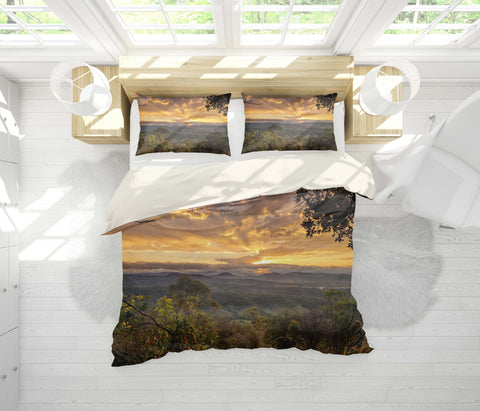 3D Sunset, Natural scenery Bedding Set Quilt Cover Quilt Duvet Cover ,Pillowcases Personalized  Bedding,Queen, King ,Full, Double 3 Pcs