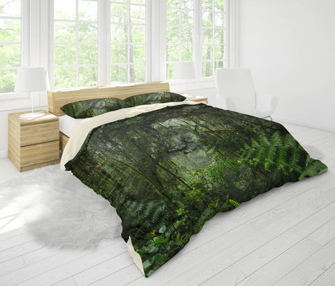 3D Mysterious, Green forest Bedding Set Quilt Cover Quilt Duvet Cover ,Pillowcases Personalized  Bedding,Queen, King ,Full, Double 3 Pcs