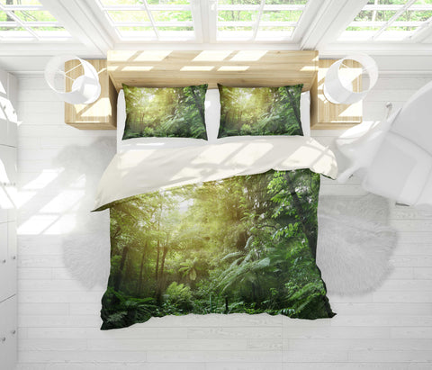 3D Sunshine, Forest Bedding Set Quilt Cover Quilt Duvet Cover ,Pillowcases Personalized  Bedding,Queen, King ,Full, Double 3 Pcs