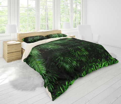 3D Palm leaf Bedding Set Quilt Cover Quilt Duvet Cover ,Pillowcases Personalized  Bedding,Queen, King ,Full, Double 3 Pcs