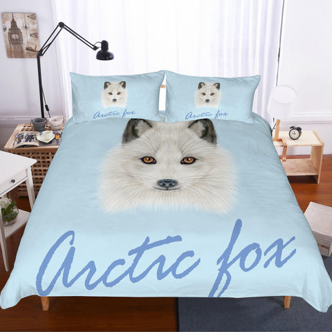 3D Cartoon  White  Samoyed Bedding Set Quilt Cover Quilt Duvet Cover Pillowcases Personalized  Bedding Queen  King  Full  Double 3 Pcs