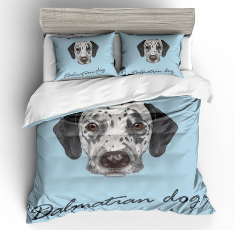 3D Dalmatian Bedding Set Quilt Cover Quilt Duvet Cover Pillowcases Personalized  Bedding Queen  King  Full  Double 3 Pcs