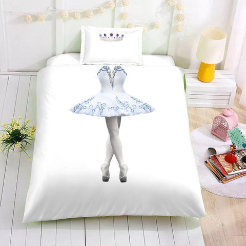 3D Ballerina  Quilt Cover Set Bedding Set Pillowcases