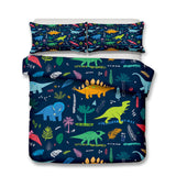 3D Cartoon  Dinosaur  Quilt Cover Set Bedding Set Pillowcases