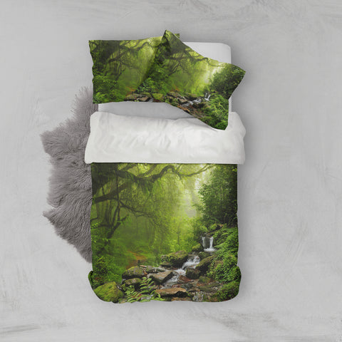 3D Mysterious, Jungle scenery Bedding Set Quilt Cover Quilt Duvet Cover ,Pillowcases Personalized  Bedding,Queen, King ,Full, Double 3 Pcs