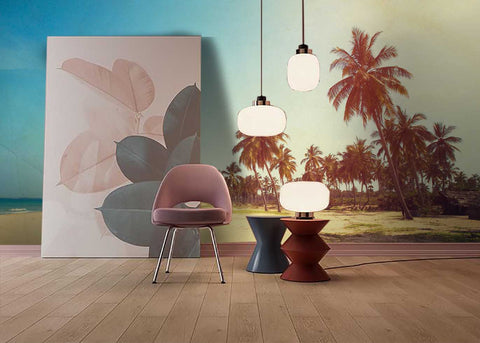 3D Tropical, Pop style, Coconut Wallpaper
