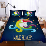 3D Dreamy  Unicorn  Quilt Cover Set Bedding Set Pillowcases