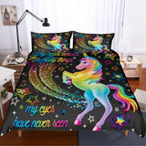 3D Cartoon  Colorful  Unicorn  Quilt Cover Set Bedding Set Pillowcases