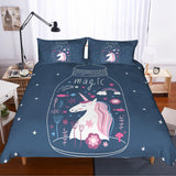 3D Cartoon  Dreamy  Unicorn  Quilt Cover Set Bedding Set Pillowcases