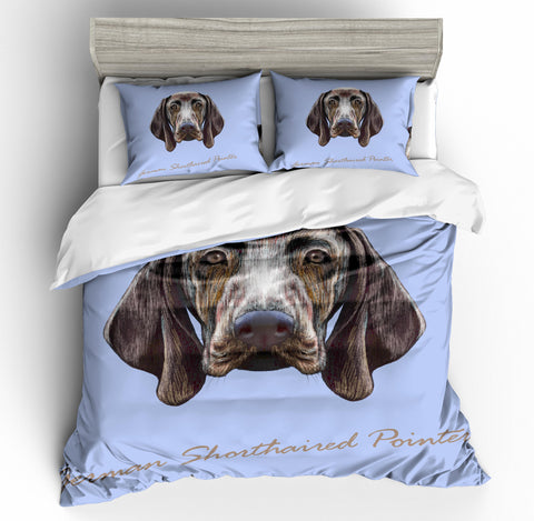 3D Cartoon  Weimaraner  Quilt Cover Set Bedding Set Pillowcases