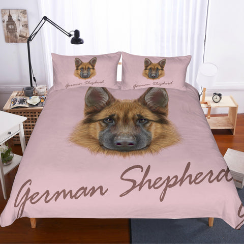 3D German shepherd  Quilt Cover Set Bedding Set Pillowcases
