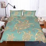 3D Abstract  Turtle  Quilt Cover Set Bedding Set Pillowcases