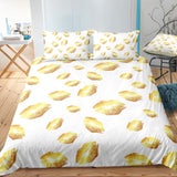 3D White Yellow Kiss  Quilt Cover Set Bedding Set Pillowcases