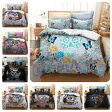 3D Black Skull  Quilt Cover Set Bedding Set Pillowcases