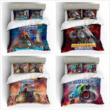 3D  Monster Truck  Quilt Cover Set Bedding Set Pillowcases