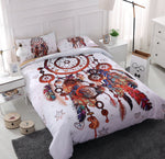 3D White Dreamcatcher Feather  Quilt Cover Set Bedding Set Pillowcases