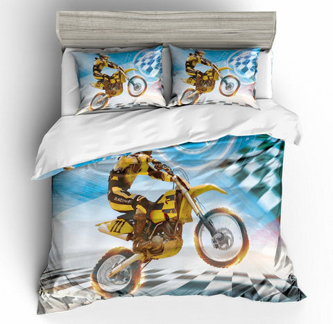 3D Motor Motorcycle  Quilt Cover Set Bedding Set Pillowcases