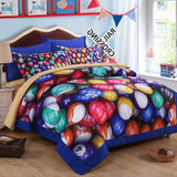 3D Billiards Snooker  Quilt Cover Set Bedding Set Pillowcases