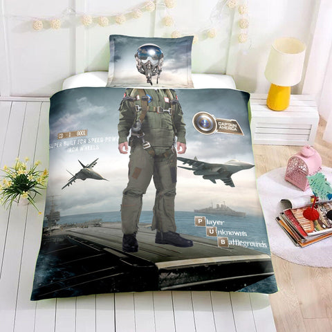 3D Fighter pilot  Quilt Cover Set Bedding Set Pillowcases