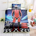 3D Race car driver  Quilt Cover Set Bedding Set Pillowcases