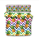 3D Colorful Pineapple  Bedding Set Quilt Cover Quilt Duvet Cover ,Pillowcases Personalized  Bedding,Queen, King ,Full, Double 3 Pcs