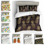 3D Dark Golden Pineapple  Bedding Set Quilt Cover Quilt Duvet Cover ,Pillowcases Personalized  Bedding,Queen, King ,Full, Double 3 Pcs