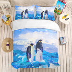 3D Penguin Iceburg Bedding Set Quilt Cover Quilt Duvet Cover ,Pillowcases Personalized  Bedding,Queen, King ,Full, Double 3 Pcs