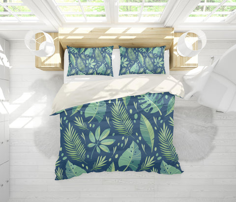 3D Hand-painted  Green plant  Quilt Cover Set Bedding Set Pillowcases