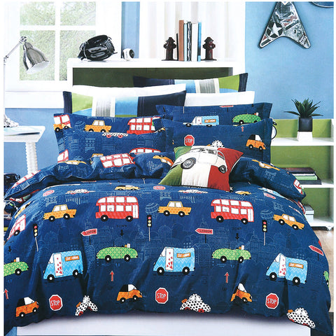 3D Bus Car Kids Pattern Duvet Cover Bedding Set Quilt Cover Pillowcases Personalized  Bedding Queen  King  Full  Double 3 Pcs