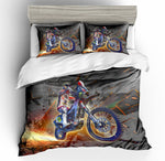 3D Motor Motercycle  Quilt Cover Set Bedding Set Pillowcases