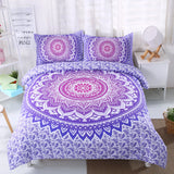 3D Bohemian Mandalas Purple Bedding Set Quilt Cover Quilt Duvet Cover ,Pillowcases Personalized  Bedding,Queen, King ,Full, Double 3 Pcs